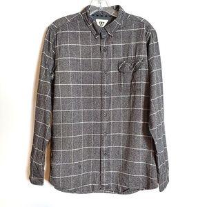 Vissla Flannel Button Down Men's Shirt Size M
